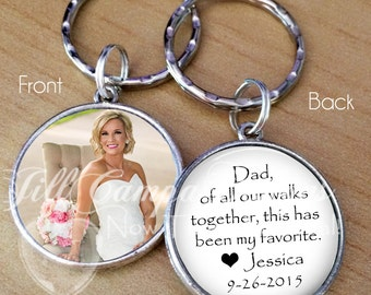 """FATHER of the BRIDE, Thank you gift - """"Dad, of all our walks together, this has been my favorite"""" - Your Photo on one side - Thank you Dad"""