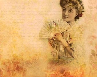 Victorian Photos, Pretty Woman, Victorian Art, Vintage Art, Feminine Wall Decor, Peach Decor, Victorian Art, Pink Decor, Pink Wall Art