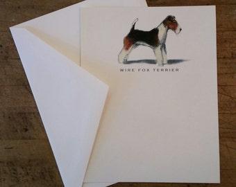 Wire Fox Terrier Note Card Set