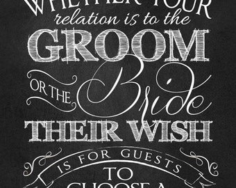 """Wedding Ceremony """"No Seating Plan"""" Sign, INSTANT DOWNLOAD, 18"""" x 24"""", Printable, DIY, Sign, Seating Plan, Chalkboard"""