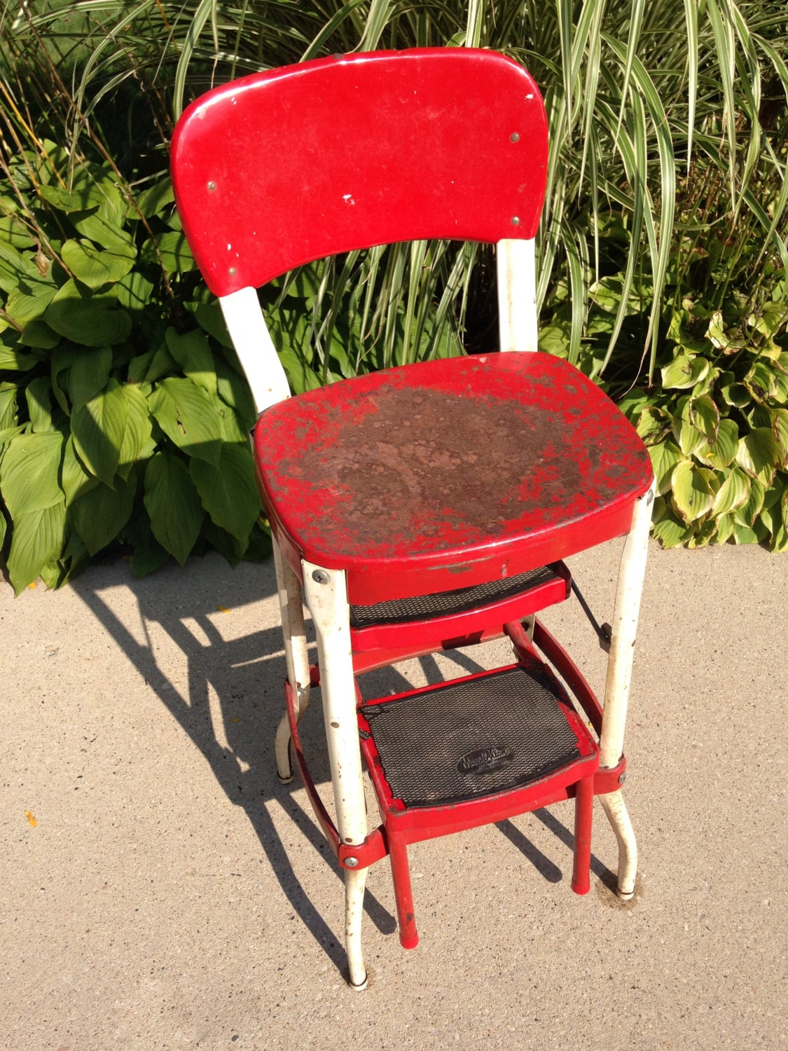 Rare Vintage Marsh Allan Kitchen Step Stool Chair From The