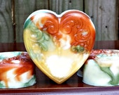 Pumpkin Spice Handmade Soap - Moisturizing Triple Butter - Heart Shaped - Detergent, SLS and Sulfate Free - FAAP,  HAFAIR, TeamHaHa
