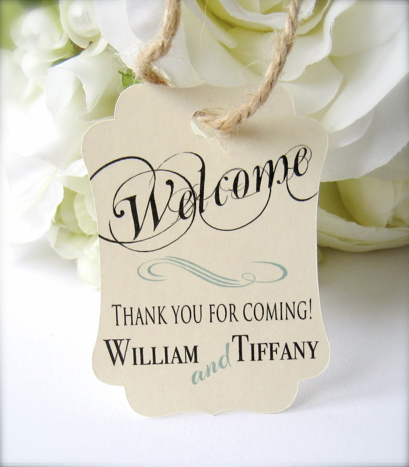 Wedding welcome tags favor tags destination wedding tags