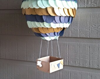 Hot Air Balloon Prop|Hot Air Balloon Party Decoration|Hot Air Balloon Mobile|Hot Air Balloon Mobile|Nautical Hot Air Balloon|Hot Air Shower