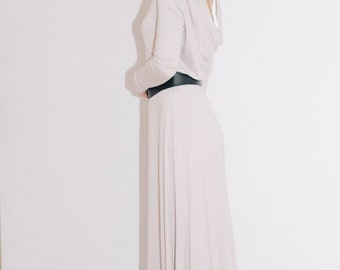 maxi dress/Cowl back dress/Long sleeves dress