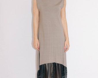 green dress/Sexy dress/unique dress/Faux leather dress