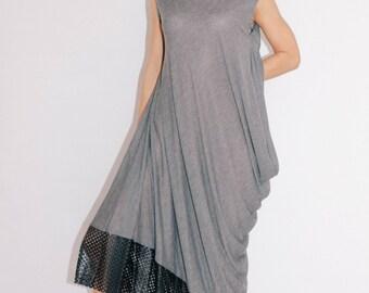 Gray maxi dress/casual dress/maternity dress