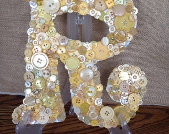 Button Letter Monogram