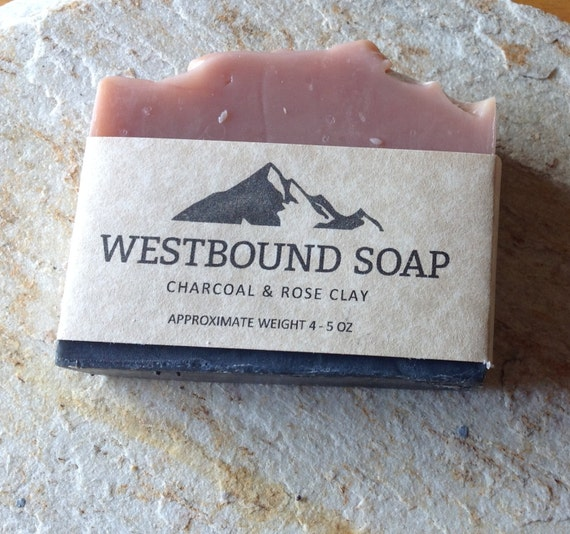 Items Similar To Charcoal Rose Clay Handmade Scented Soap