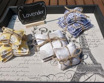 Organic Lavender Sachet Pouch Set of 3