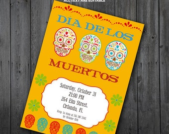 Day of the Dead Invitation