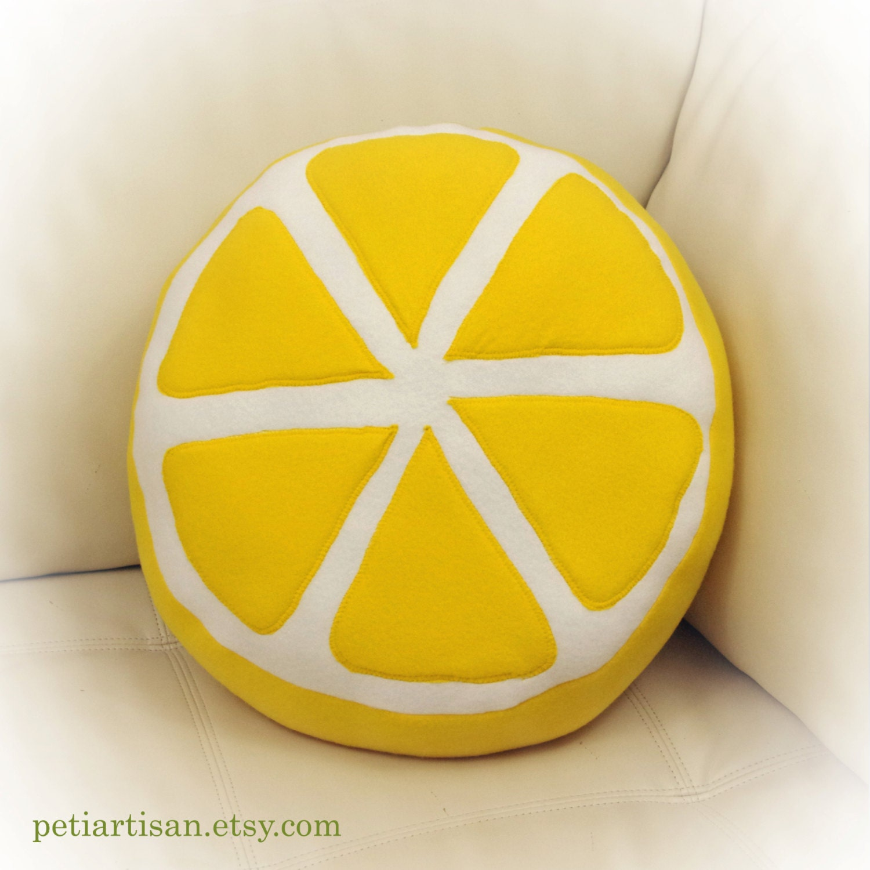 3d Create Your Own Room Lemon Pillow Lemon Slice Pillow Food Pillow Fruit Pillow
