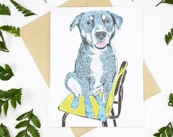 Dog on Chair Card