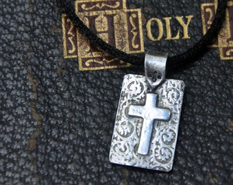 Fine Silver Cross Pendant Necklace: ideal for Confirmation