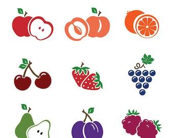 Fruit Icons Digital Download