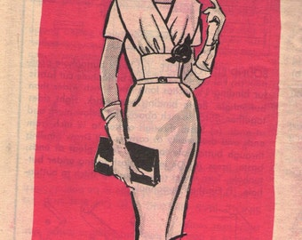 Vintage 1960s Mail Order Sewing Pattern 4625 - Misses' Dress size 16 1/2 bust 37""