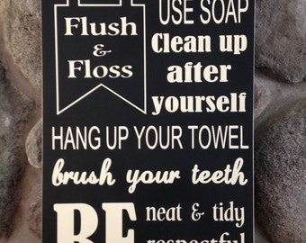 Wash Your Hands- Bathroom Rules
