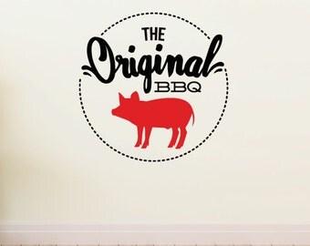 The Original BBQ - Vinyl Sticker - ColorId005