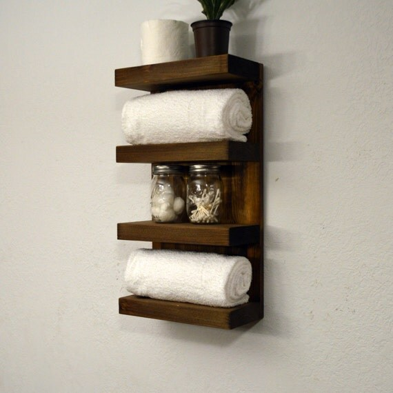 Bathroom Towel Rack 4 Tier Bath Storage By Rusticmoderndecor