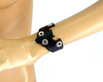 Leather Bat Bracelet