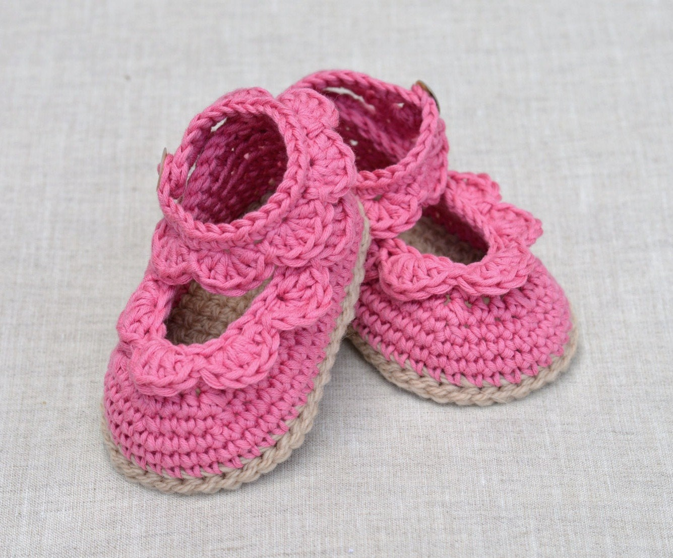 CROCHET PATTERN Baby Sandals with Scallops Easy Crochet