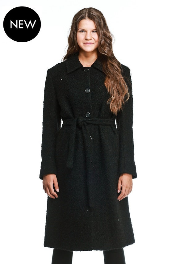 Long Black Wool Trench Coat Womens - Tradingbasis