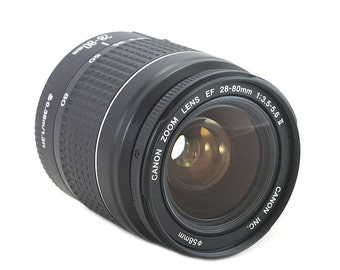 Canon EF 28-80mm f/3.5-5.6 II zoom lens for digital & 35mm EOS cameras