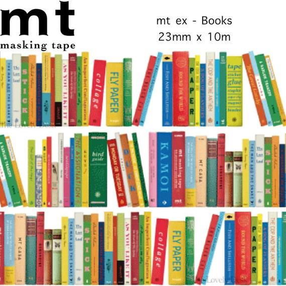 mt ex Books Washi Tape - New 2015 Masking Tape - colourful books library reading bookshelf kamoi book