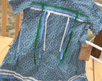 Native American Girls Ribbon Tear Dress regalia, size 5, Powwow clothing
