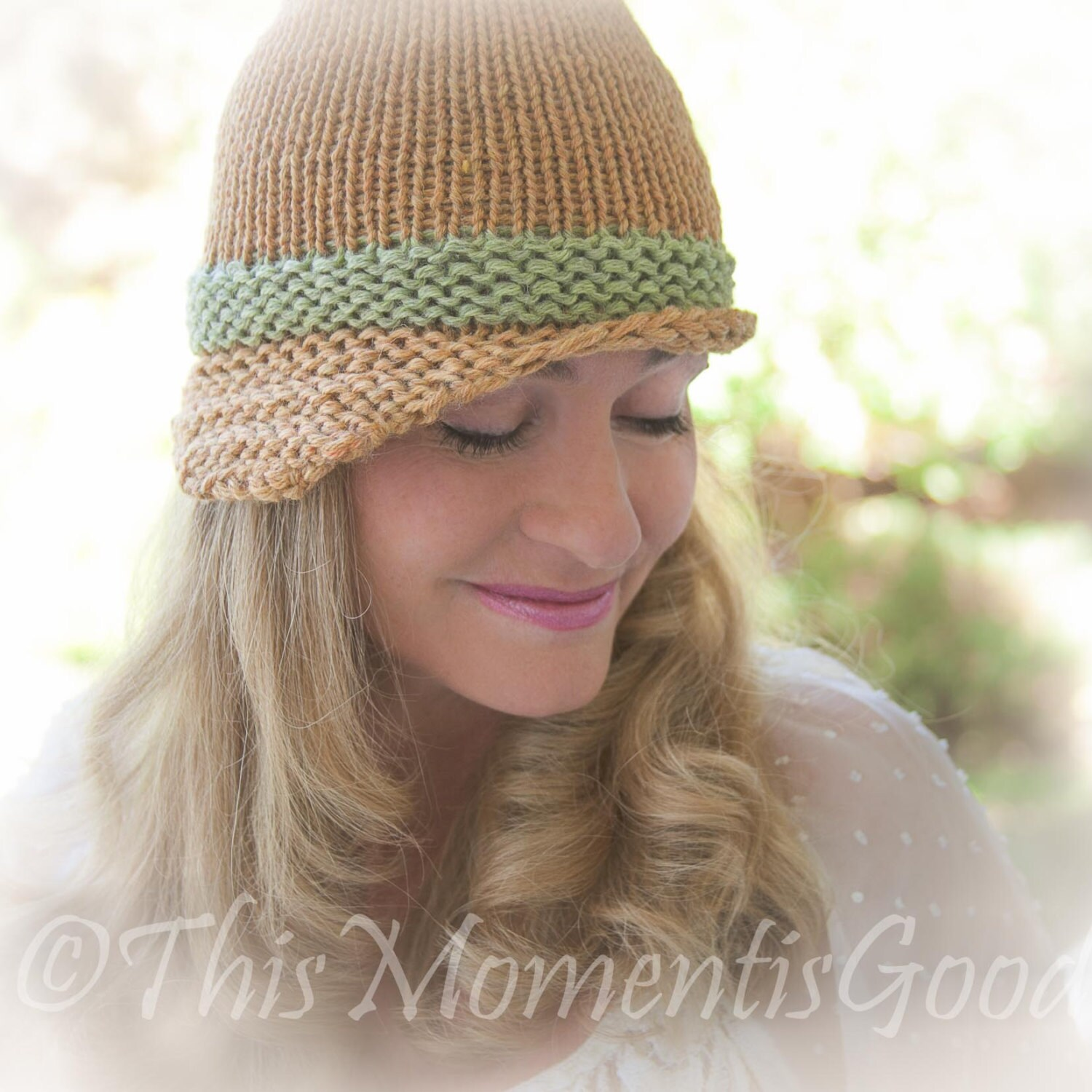 Loom Knit Folded Brim Cloche Hat PATTERN. Vintage Style Hat