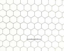 Chicken Wire Fabric, Moda 8255 1, Black and Just Off White Chicken Wire Quilt Fabric, Chicken Fabric, Farmhouse & Country Decor, Cotton