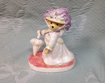 Bialosky and Friends Bear Bearoness Von Polaris, Ceramic Bear, Victorian Bear Figurine, Porcelain Bear, Bearoness Von Polaris