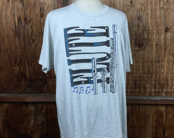 Vintage 90's Flute T-Shirt Sz. XL Made in USA