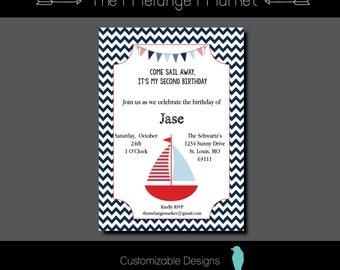 Sail Away Birthday Party Invite
