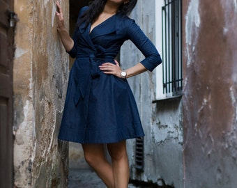 Elegant denim dress