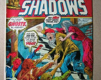 Crypt of Shadows Comic Book Number 7, Bluebeard, Ghosts, Vintage Comic, 1970s, Nameless Evil, Scary, Paper Ephemera, Collectible Comic, Old
