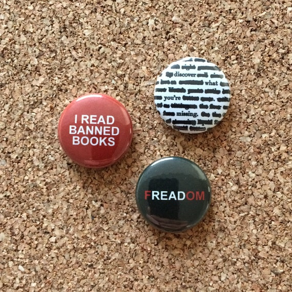 Banned Books Buttons