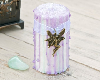 Faerie Muse Pillar Candle - Nature Spirits - Otherworlds