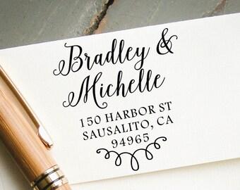 Self Inking Return Address Stamp, Modern Calligraphy Font, Custom Pre-Inked Stamp, Personalized Stamp, Custom Stamp, Wedding Stamp