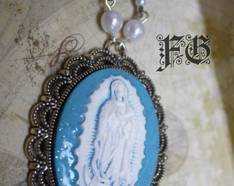Our Lady of Guadalupe Necklace Cameo Religious