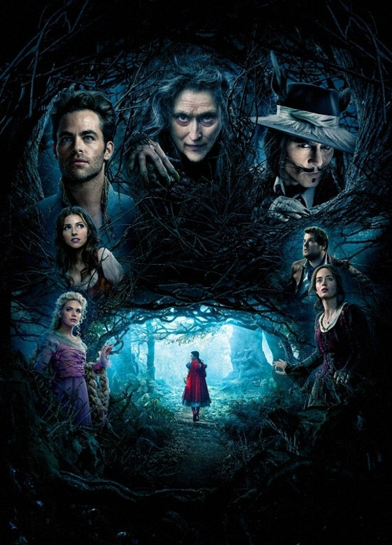 Into The Woods Art Textless Poster  Meryl Streep V1