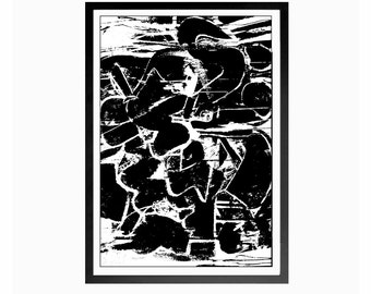 De Kooning Painting,Abstract Expressionist,Abstract Art,Download Print,Abstract Print,Instant Download,New York School,Expressionist Poster
