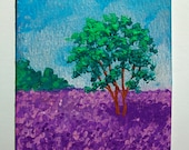 """Lavender Field of Banstead, Surrey, United Kingdom #123 (ARTIST TRADING CARDS) 2.5"""" x 3.5"""" by Mike Kraus Free Shipping"""
