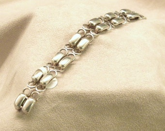 Sterling Silver Double Row Link Bracelet