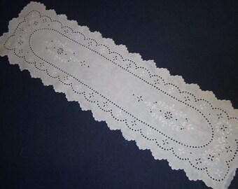 top, vintage, tablecloth, linen, white, hemstitch, himmeldurchnadeloehr