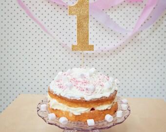 1 Cake Topper, 1st Birthday Cake Topper