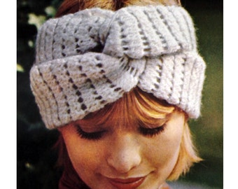 Crochet Headband Pattern Vintage 70s Crochet Turban Pattern