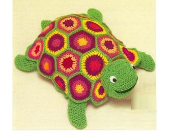 Crochet TOY Pattern Vintage 70s Crochet Turtle Toy Pattern Stuffed Animal Crochet Baby Toy Pattern Instant Download