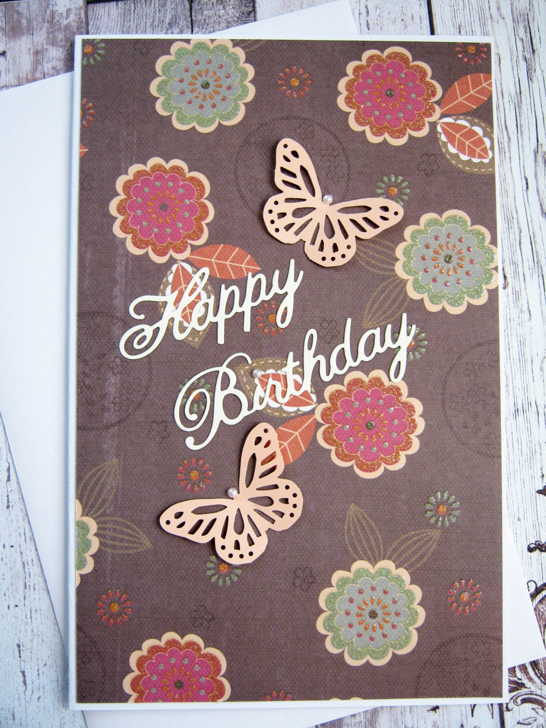 Butterfly Birthday Card Happy Birthday Wish Daughter – Butterfly Birthday Card