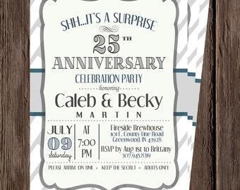 Anniversary Invitation Surprise 25th